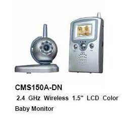 "2.4 GHz Wireless 1.5'' LCD Color Baby Monitor/KIT (one camera+one 1.5"" LCD palm monitor)"