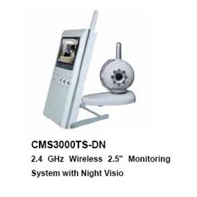 """2.4GHzWireless2.5""""Color LCD Baby Monitor with Night Vision/KIT one camera+one 2.5"""" LCD palm monitor"""