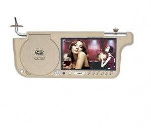 "7"" TFT LCD Sunvisor Car Monitor with Car DVD Player"