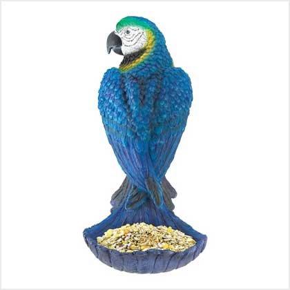 BLUE PARROT BIRD FEEDER