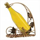 BASKET WEAVE WINE HOLDER