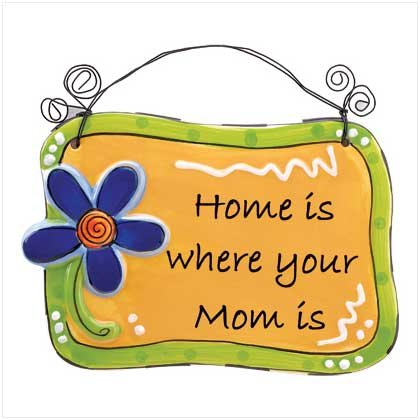 HOME IS WHERE MOM IS PLAQUE