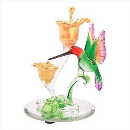 ART-GLASS HUMMINGBIRD FIGURINE