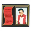 ELVIS PRESLEY BIOGRAPHY PLAQUE