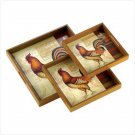 ROOSTER TRAY TRIO