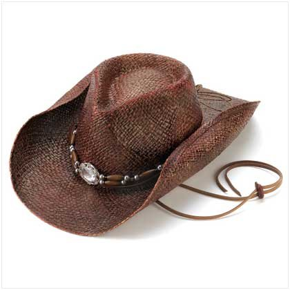 WOVEN STRAW COWBOY HAT