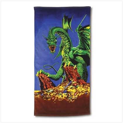 DRAGON PRINT BEACH TOWEL
