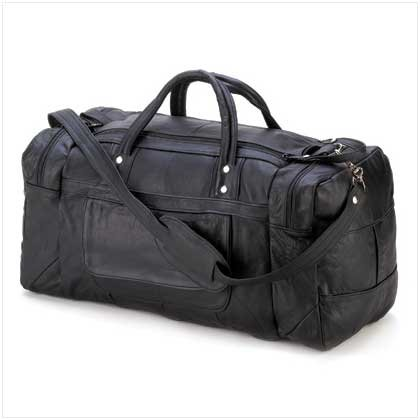 SOFT-SIDED LEATHER TRAVEL BAG