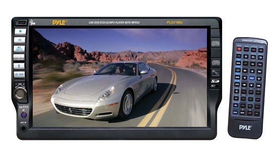 Pyle 7'' TFT Touch Screen DVD/VCD/CD/MP3/CD-R/USB/AM/FM/RDS Receiver