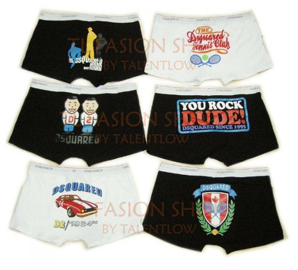Lot of 6 pcs 09 DSQUARED D2 Man's boxers/briefs Underwear pack No 36