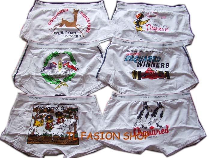 Lot of 6 pcs 09 DSQUARED D2 Man's boxers/briefs Underwear pack No 17