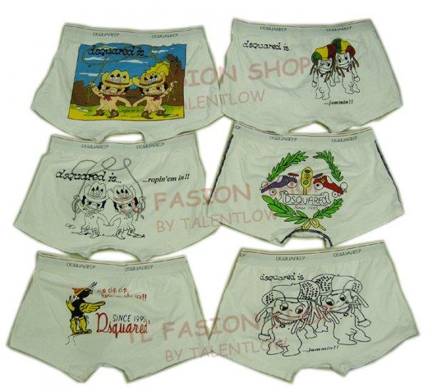 Lot of 6 pcs 09 DSQUARED D2 Man's boxers/briefs Underwear pack No 19
