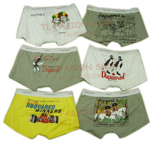 Lot of 6 pcs 09 DSQUARED D2 Man's boxers/briefs Underwear pack No 23