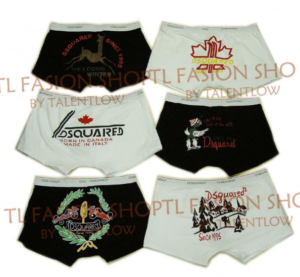 Lot of 6 pcs 09 DSQUARED D2 Man's boxers/briefs Underwear pack No 26