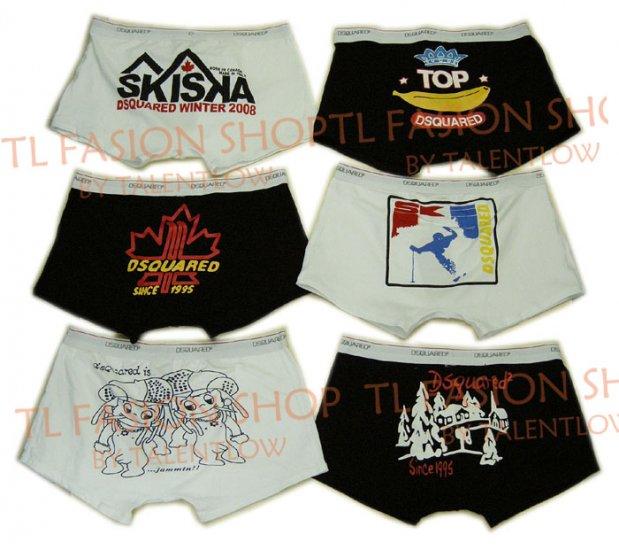 Lot of 6 pcs 09 DSQUARED D2 Man's boxers/briefs Underwear pack No 27