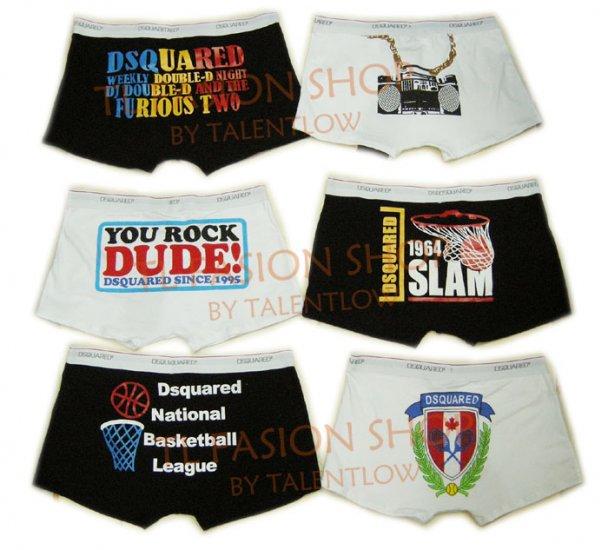 Lot of 6 pcs 09 DSQUARED D2 Man's boxers/briefs Underwear pack No 34
