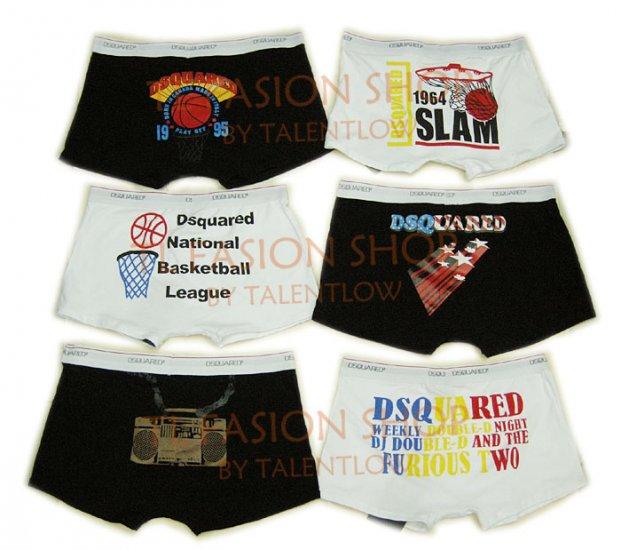 Lot of 6 pcs 09 DSQUARED D2 Man's boxers/briefs Underwear pack No 35