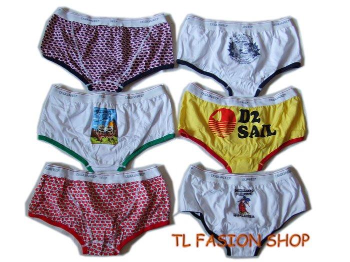 Lot of 6 pcs 09 DSQUARED D2 Man's boxers/briefs Underwear pack No 5