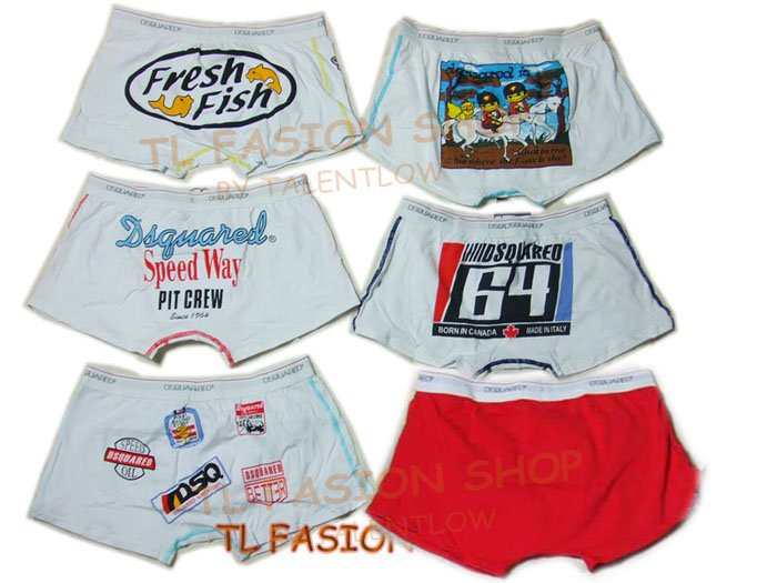 Lot of 6 pcs 09 DSQUARED D2 Man's boxers/briefs Underwear pack No 6