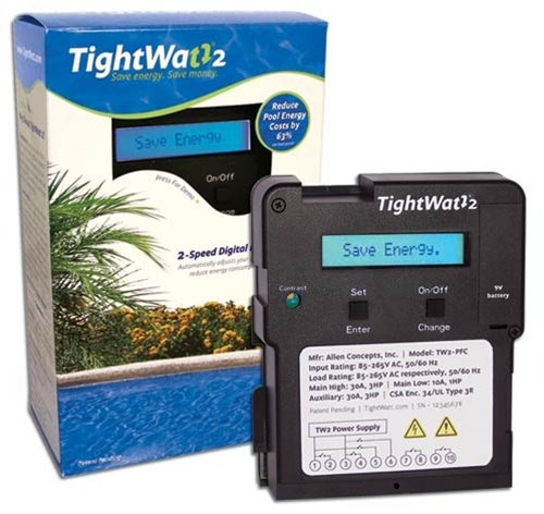 TightWatt TW2-PFC Digital Pool Timer for Two-Speed Pool Pumps