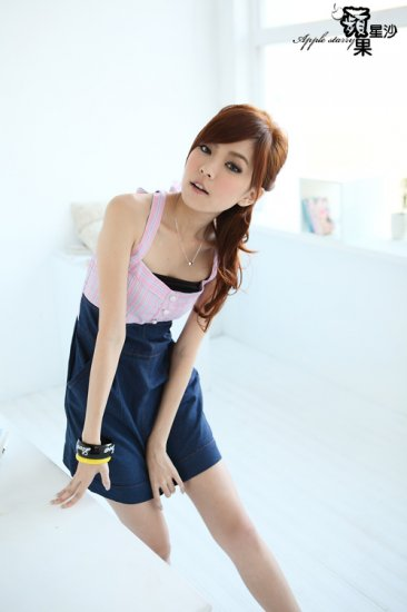 Baby Doll Cutie Cotton + Denim Like Tube Dress - Pink