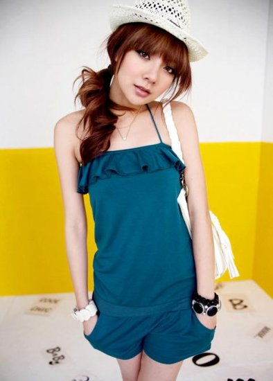 Kawaii Beauty Shoulder Overall Pants