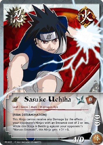 Sasuke Uchiha Naruto Card PR 027