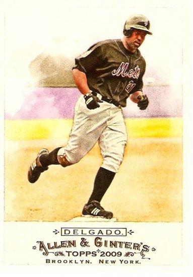 2009 Topps Allen & Ginter Carlos Delgado SP #345 Mets