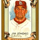 2007 Topps Allen & Ginter Jim Edmonds Dick Perez Sketch 26/30 Cardinals