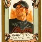 2007 Topps Allen & Ginter Barry Zito Dick Perez Sketch 25/30 Giants