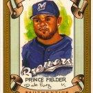 2007 Topps Allen & Ginter Prince Fielder Dick Perez Sketch 16/30 Brewers
