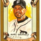 2007 Topps Allen & Ginter Gary Sheffield Dick Perez Sketch 10/30 Tigers