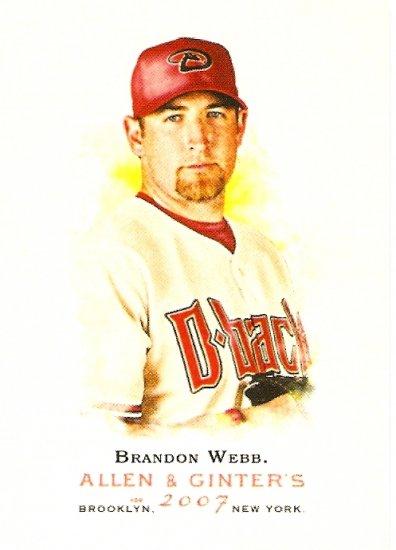 2007 Topps Allen & Ginter Brandon Webb #250 Diamondbacks