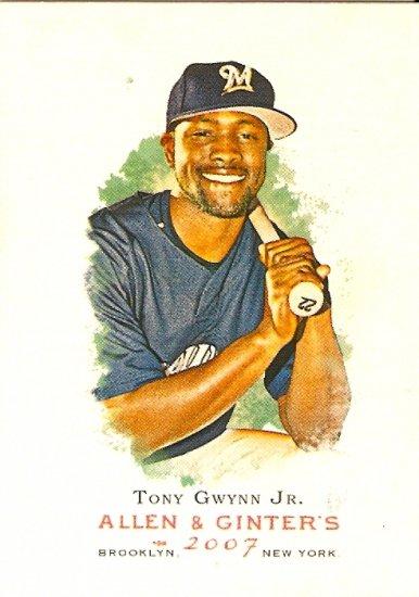 2007 Topps Allen & Ginter Tony Gwynn Jr. #221 Brewers