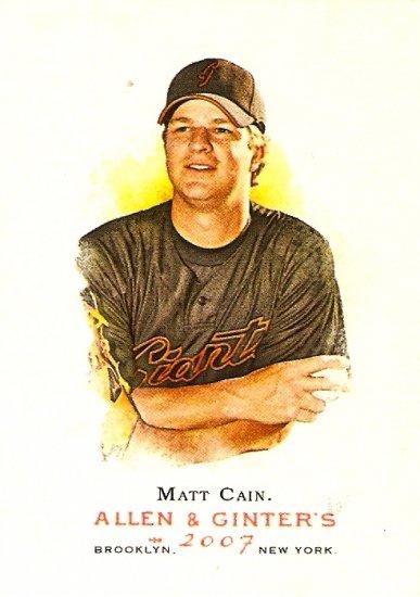 2007 Topps Allen & Ginter Matt Cain #179 Giants