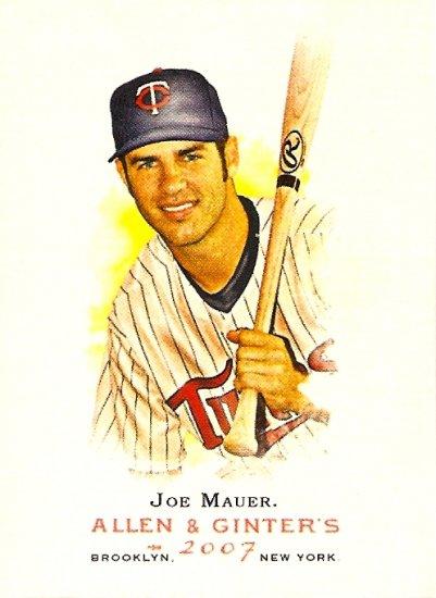 2007 Topps Allen & Ginter Joe Mauer #165 Twins