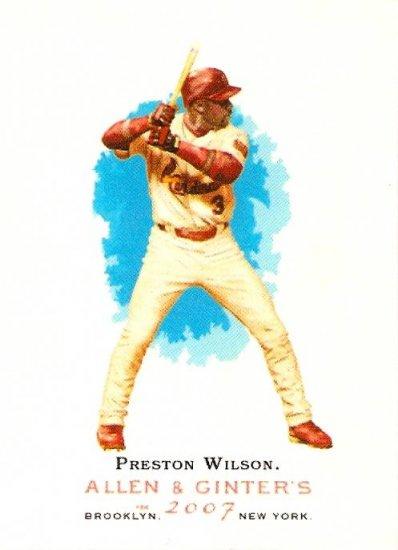 2007 Topps Allen & Ginter Preston Wilson #102 Cardinals