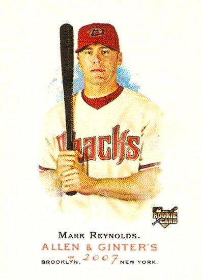 2007 Topps Allen & Ginter Mark Reynolds RC #101 Diamondbacks