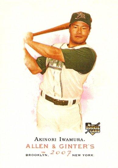 2007 Topps Allen & Ginter Akinori Iwamura RC #87 Rays