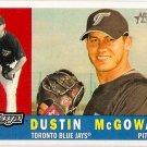 2009 Topps Heritage Dustin McGowan #406 Blue Jays