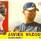 2009 Topps Heritage Javier Vazquez #350 Braves