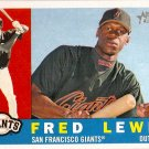 2009 Topps Heritage Fred Lewis #346 Giants
