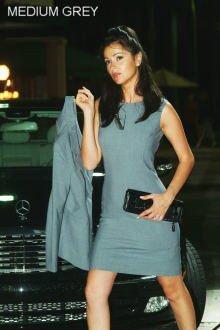 Lined Stretch Wool Sleeveless Dress
