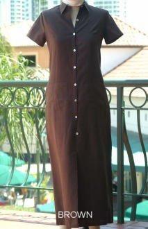 Short Sleeved Button Front Linen Dress