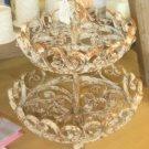 Beautiful Vintage Two Tier Metal Basket