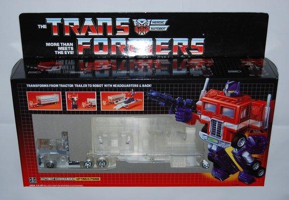 Transformers G1 Clear OPTIMUS PRIME Reissue KO K