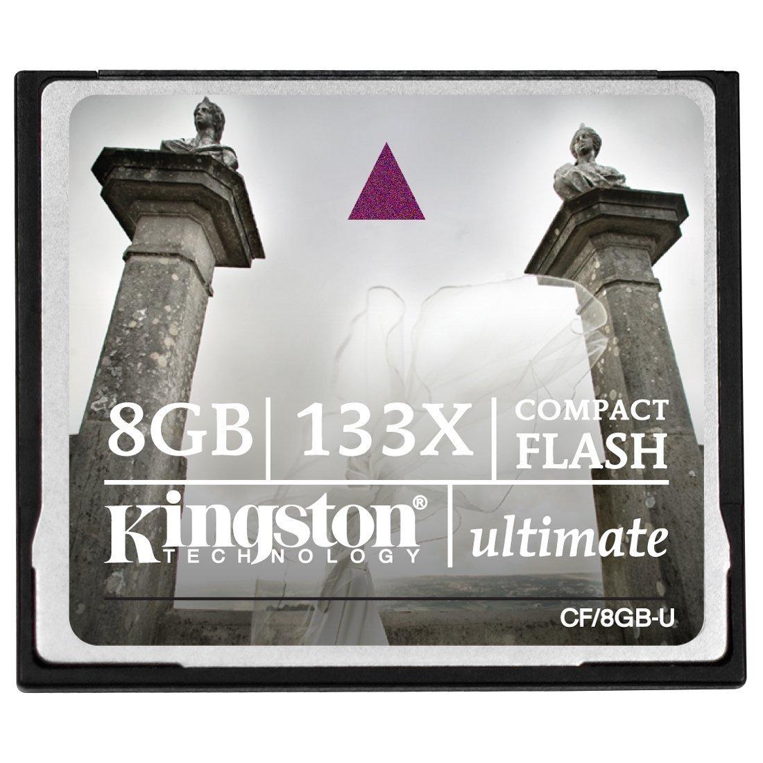 Kingston Ultimate 8 GB 133x CompactFlash Memory Card CF/8GB-U