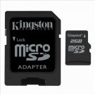 Kingston 2GB MicroSD Flash Card w/ SD Adapter Model SDC/2GB Set of 2 + DMC2