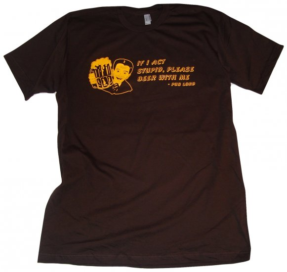 Beer With Me Brown T-Shirt L