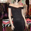 SEXY SHIMMERY BLACK BANDAGE DRESS SIZE SMALL 2 - 4